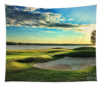 Perfect Golf Sunset Tapestry