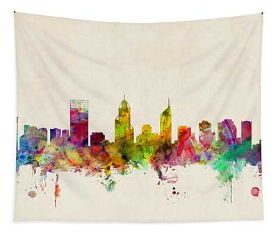 Perth Australia Skyline Tapestry