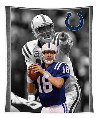 Peyton Manning Colts Tapestry