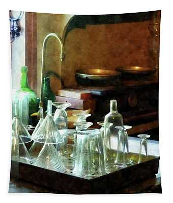 Pharmacy - Glass Funnels And Bottles Tapestry