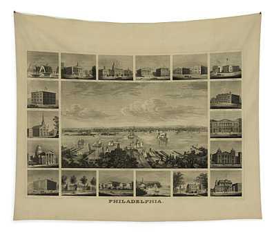 Philadelphia By J Serz Tapestry