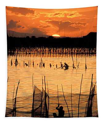 Philippines Manila Fishing Tapestry