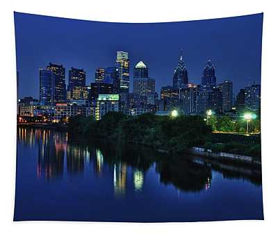 Philly Skyline Tapestry