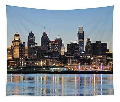 Philly Sunset Tapestry