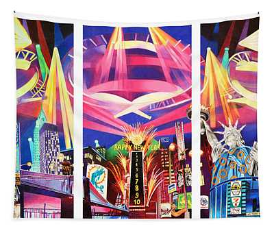 Phish New York For New Years Triptych Tapestry