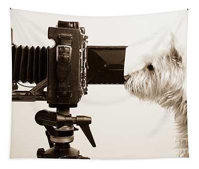 Pho Dog Grapher Tapestry