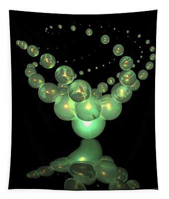 Phosphorescent Glass Twirl  Tapestry