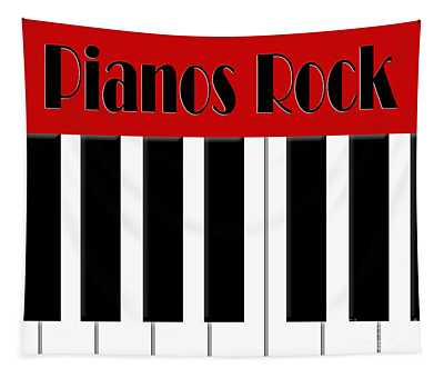Pianos Rock In Red Tapestry