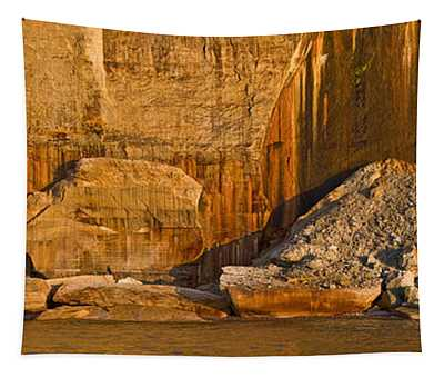Pictured Rocks Near A Lake, Pictured Tapestry
