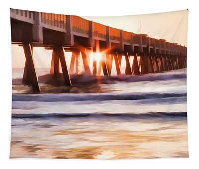 Pier Sunrise Too Tapestry