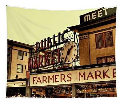 Pike Place Market - Seattle Washington Tapestry