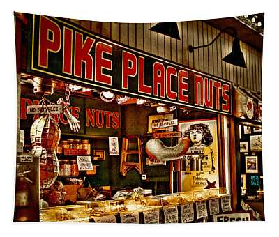 Pike Place Nuts - Seattle Washington Tapestry