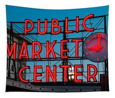 Pike Place Public Market Seattle Tapestry