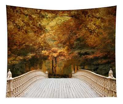 Tapestry featuring the photograph Pine Bank Autumn by Jessica Jenney