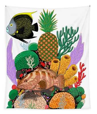 Pineapple Reef Tapestry