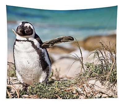 Happy Penguin Tapestry