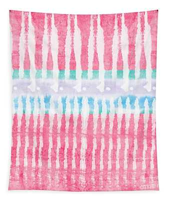 Pink And Blue Tie Dye Tapestry