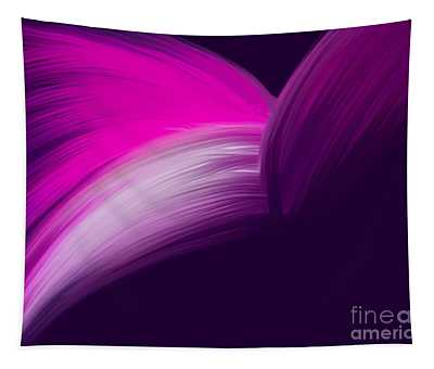 Pink And Purple Curves Tapestry
