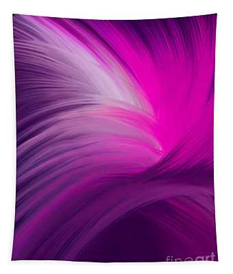 Pink And Purple Swirls Tapestry