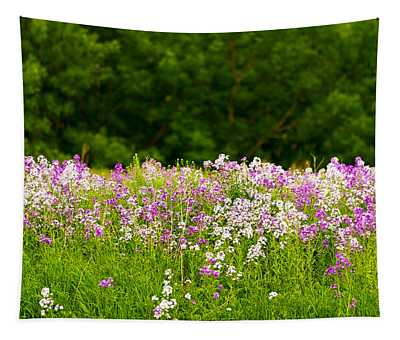 Pink And White Fireweed Flowers Tapestry