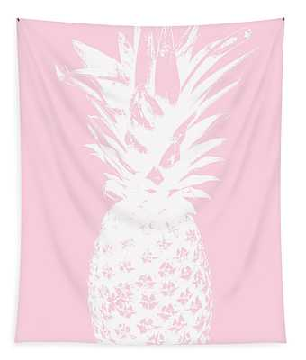 Pink And White Pineapple Tapestry