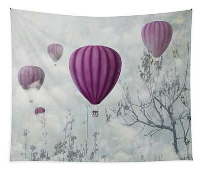 Pink Balloons Tapestry