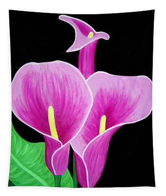Pink Calla Lillies 2 Tapestry