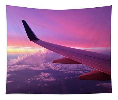 Pink Flight Tapestry
