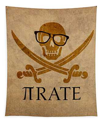Pirate Math Nerd Humor Poster Art Tapestry