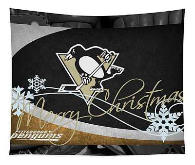 Pittsburgh Penguins Christmas Tapestry