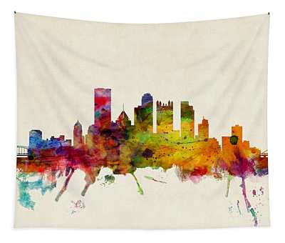Pittsburgh Pennsylvania Skyline Tapestry
