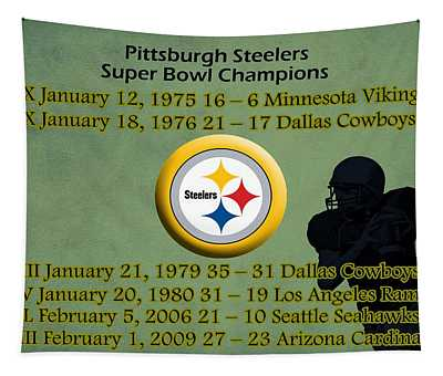 Pittsburgh Steelers Super Bowl Wins Tapestry