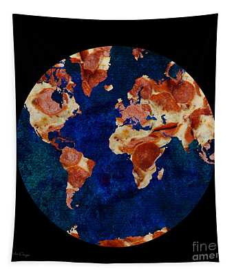 Pizza World Tapestry