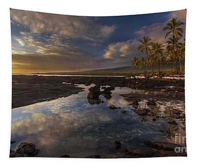 Place Of Refuge Sunset Reflection Tapestry