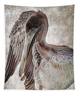 Plaid Pelican Tapestry