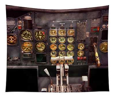 Plane - Cockpit - Boeing 727 - The Controls Are Set Tapestry