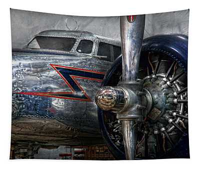Tapestry featuring the photograph Plane - Hey Fly Boy  by Mike Savad