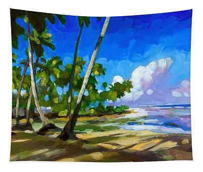 Coconut Trees Paintings Wall Tapestries