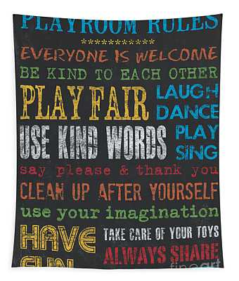 Playroom Rules Tapestry