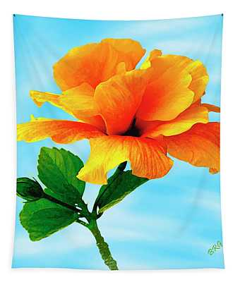 Pleasure - Yellow Double Hibiscus Tapestry