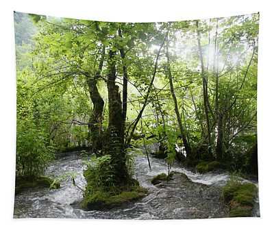 Tapestry featuring the photograph Plitvice Lakes by Travel Pics