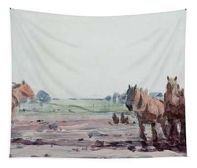 Plow Horses Tapestry