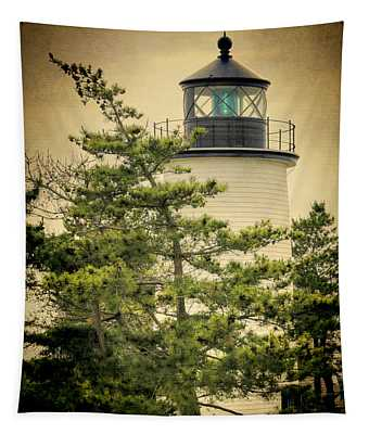 Plum Island Light Tapestry