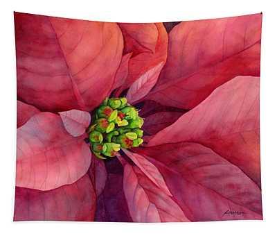 Plum Poinsettia Tapestry
