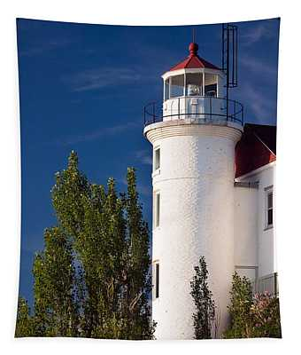 Point Betsie Lighthouse Michigan Tapestry
