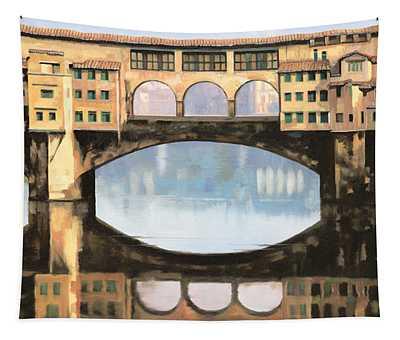 Ponte Vecchio A Firenze Tapestry