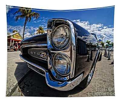 Pontiac Gto Convertible Ft Myers Beach Florida Tapestry