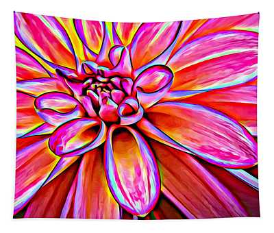 Pop Art Dahlia Tapestry