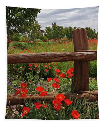 Poppies At The Farm Tapestry