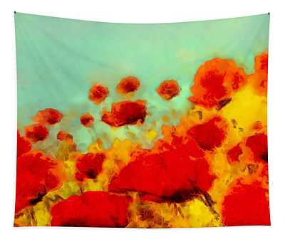Poppy Time Tapestry